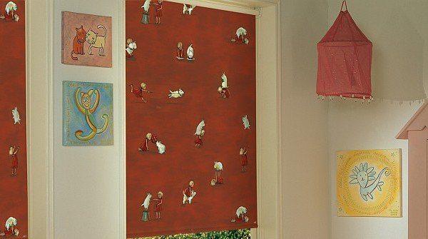 וילון גלילה מודפס - חדר תינוק