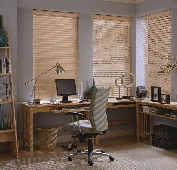 תריס ונציאני מעץ לחדרי עבודה