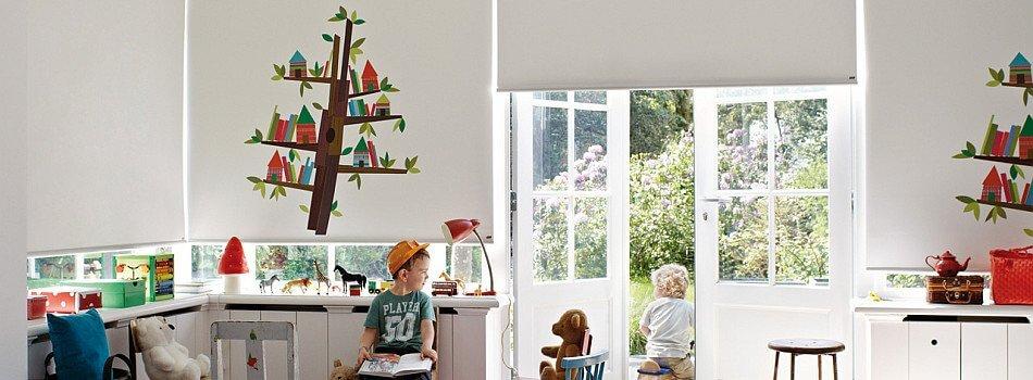 וילונות גלילה מודפסים לחדר ילדים ותינוקות